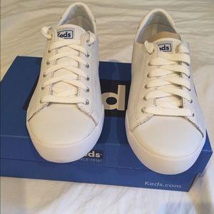 White Leather Keds size 7.5